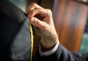 Measurement of chest for a suit fitting