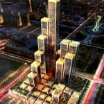 Moderno mercado árabe de tonos cobrizos  Se encuentra en Abu Dhabi y fue diseñado por el estudio británico Foster + Partners