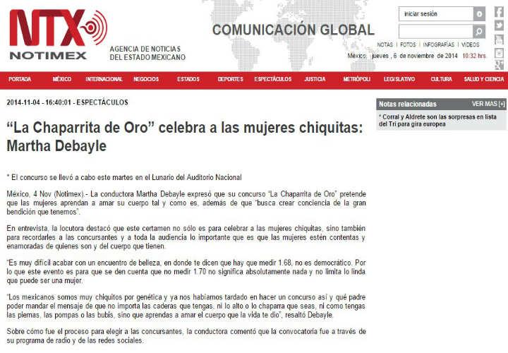 "NTX: La Chaparrita de Oro"" celebra a las mujeres chiquitas"