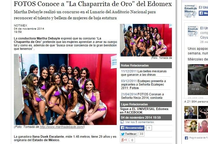 """FOTOS Conoce a """"La Chaparrita de Oro"""" del Edomex"""