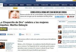 """La Chaparrita de Oro"" celebra a las mujeres chiquitas: Martha Debayle"