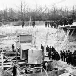 En enero de 1987 comenzó la excavación de los cimientos.