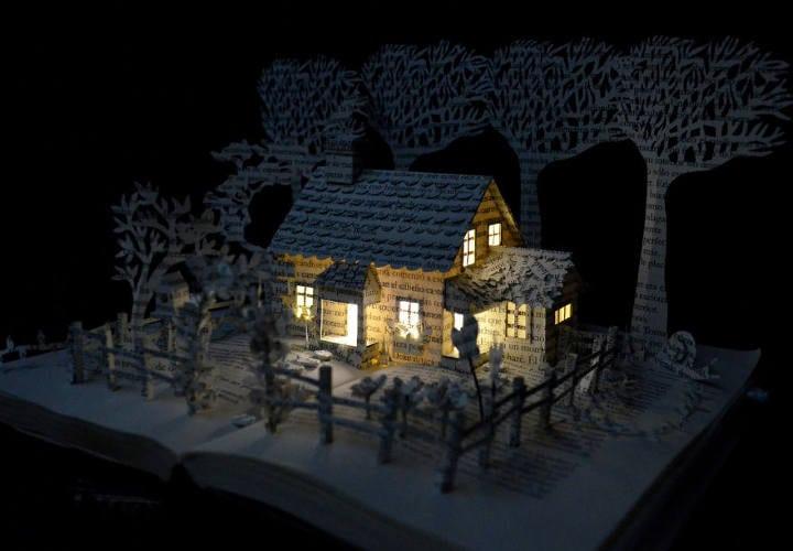 Casa en un campo de libro