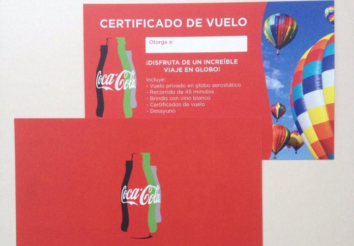 Certificado de Viaje en Globo