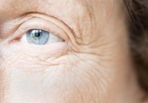 Blue Eye of Elderly Woman