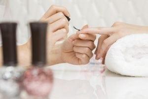 Hand of manicurist