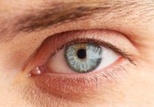 Macro of blue eye