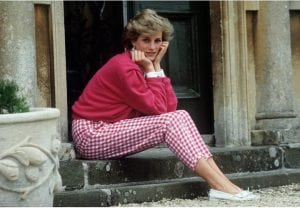 TETBURY, UNITED KINGDOM - JULY 18:  Princess Diana Resting Her Head In Her Hands Whilst Sitting On The Steps Of Her Home At Highgrove, Gloucestershire.  (Photo by Tim Graham/Getty Images)