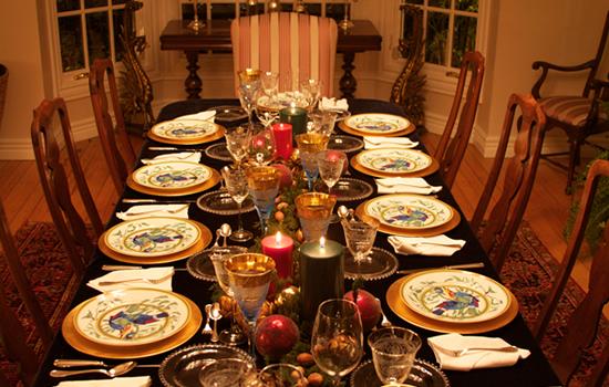 C mo poner una mesa de navidad martha debayle - Como poner la mesa en navidad ...