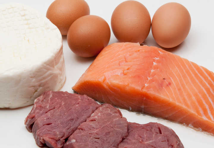 Some exemples of animal protein, eggs, cheese, fish, and