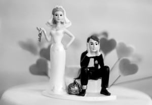 Funny wedding cake figurines