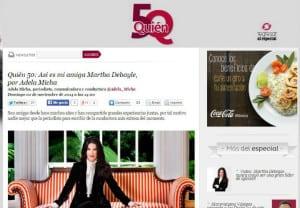 Quién 50: Así es mi amiga Martha Debayle, por Adela Micha