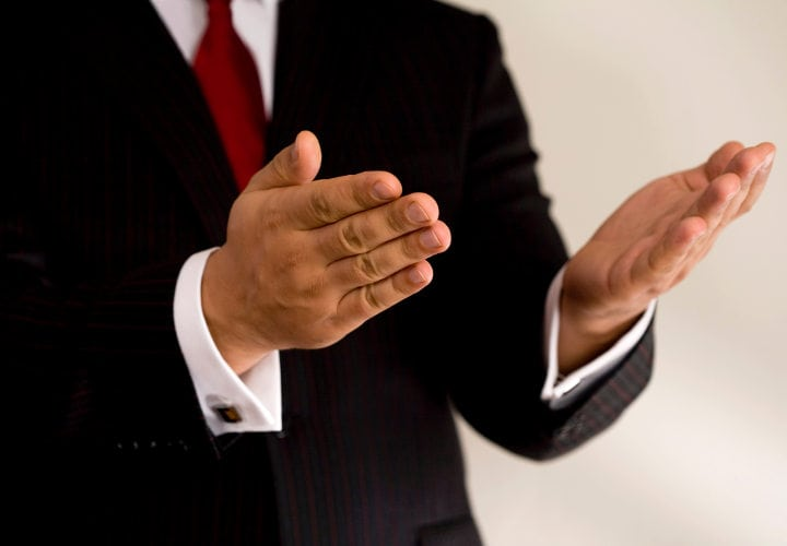 business hands, man in suit