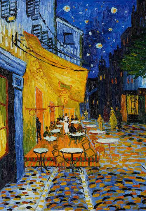 Terraza-de-café-por-la-noche