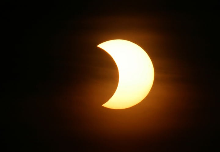 Partial Solar Eclipse as seen on May 31st 2003 in Ingolstadt/Bavaria/Germany