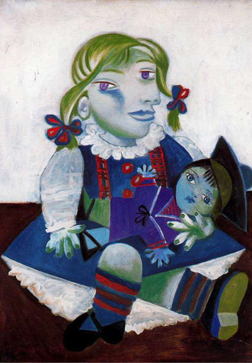 Maya with doll