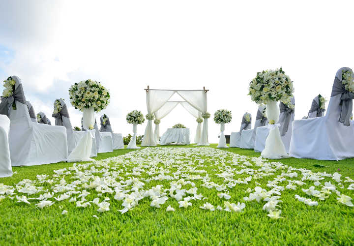 Beautiful wedding set up in Phuket Thailand