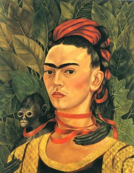 Imagen 10- Autorretrato con mono 1940