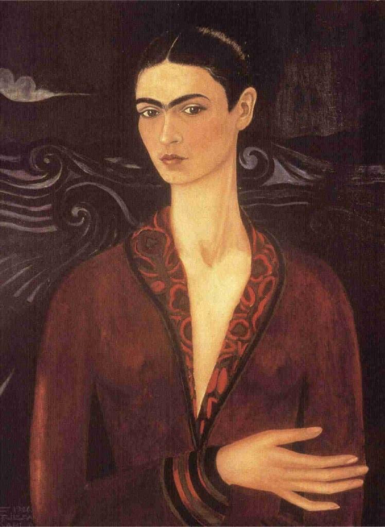 Imagen 3- autorretrato con traje de terciopelo (1926)