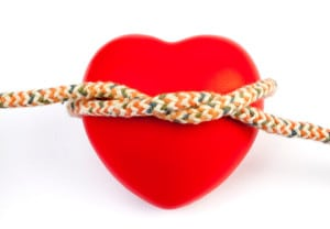 Heart Shape With Rope Taken With a Full Frame Digital Camara