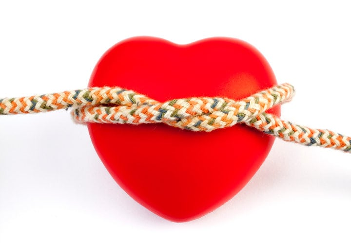 Heart Shape With RopeTaken With a Full Frame Digital Camara