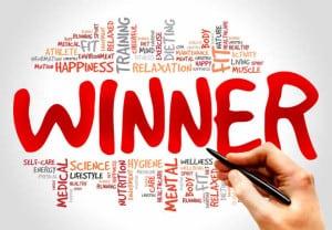 Winner word cloud, health concept
