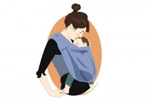 Por qué debes cargar a tu bebé