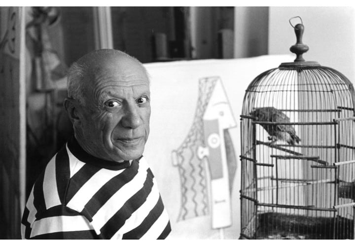 "FRANCE. Provence Alpes CÙte d'Azur. Alpes Maritimes. Cannes. 1957. Villa ""La Californie"", Spanish painter Pablo PICASSO.   Contact email: New York : photography@magnumphotos.com Paris : magnum@magnumphotos.fr London : magnum@magnumphotos.co.uk Tokyo : tokyo@magnumphotos.co.jp  Contact phones: New York : +1 212 929 6000 Paris: + 33 1 53 42 50 00 London: + 44 20 7490 1771 Tokyo: + 81 3 3219 0771  Image URL: http://www.magnumphotos.com/Archive/C.aspx?VP3=ViewBox_VPage&IID=2S5RYDZF6MZA&CT=Image&IT=ZoomImage01_VForm"